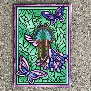 Other - 80s Vintage PEACOCK Bookmark